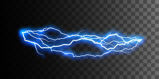 Thunderbolt or lightning visual effect for design Stock Photo