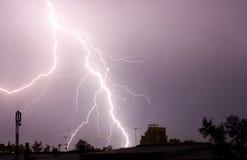 Thunderbolt no sity Imagens de Stock Royalty Free