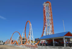 The Thunderbolt roller coaster at Coney Island in Brooklyn Stock Photography