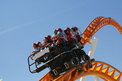 The Thunderbolt roller coaster at Coney Island in Brooklyn Stock Images