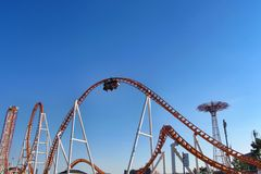 Thunderbolt Roller Coaster in Coney Island Royalty Free Stock Photos