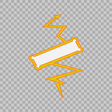 Thunderbolt sign on tranparent background.Vector Superhero Sign. Flash Icon. Color Flat Vector Icon of Power Stock Photos