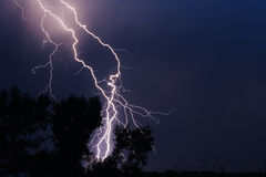 Thunderbolt in the sity Royalty Free Stock Photos