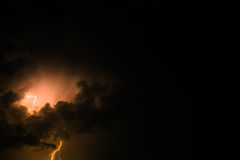 Thunderbolt and storm - skyscape Royalty Free Stock Images