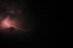 Thunderbolt and storm - skyscape Stock Image