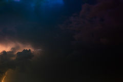 Thunderbolt and storm - skyscape Royalty Free Stock Photo