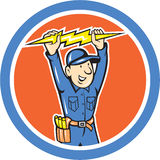 Thunderbolt Toolman Electrician Lightning Bolt Cartoon Royalty Free Stock Photography