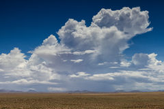 Thundercloud over the Namib desert Stock Photography