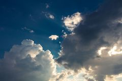 A thundercloud sunset royalty free stock photo
