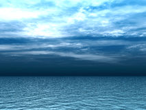Thunderclouds above the waves. Thunderclouds above the marine waves of turquoise stock illustration