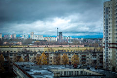 Thunderclouds in city Royalty Free Stock Photos