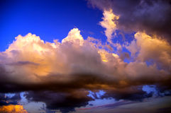 Thunderclouds of a coming nearer storm royalty free stock image