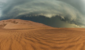 Thunderclouds in the desert Royalty Free Stock Photography