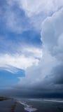 Thunderclouds na plaży Zdjęcie Royalty Free
