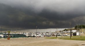 Thunderclouds nad Otranto Zdjęcia Royalty Free
