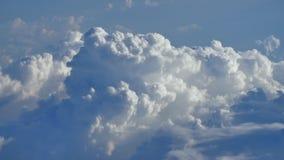 Thunderclouds od samolotowego okno zbiory wideo