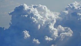 Thunderclouds od samolotowego okno zdjęcie wideo