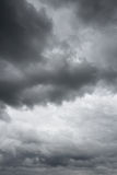 Thunderclouds over horizon. Royalty Free Stock Image