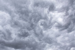 Thunderclouds. Sky with thunderclouds- storm clouds Stock Photography
