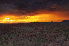 Thunderclouds on sunset Royalty Free Stock Image