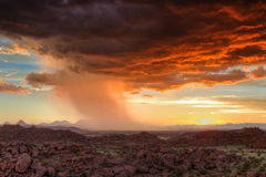 Thunderclouds at sunset over Damaraland Royalty Free Stock Image