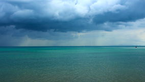 Thunderclouds at Tropical Sea stock footage