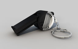 Thunderer whistle. A black and white striped thunderer whistle Stock Illustration