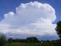 Thunderhead chmura nad francuza polem Zdjęcie Royalty Free
