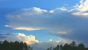 Thunderhead forming stock footage