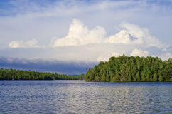 Thunderheads, Bearskin Lake Stock Photography