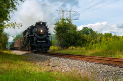 Thundering steam train Royalty Free Stock Image