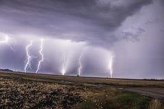 Thunderlightnacht Royalty-vrije Stock Afbeeldingen