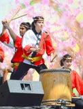 Thunderous drumming Stock Images