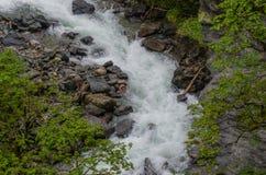 Thunderous wild creek Royalty Free Stock Image