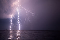 Thunders on Turkish coast Stock Image