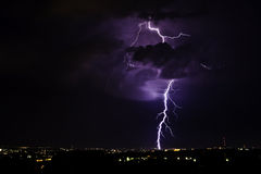 Thunderstorm 2. The summer thunderstorm in Chisinau stock photo