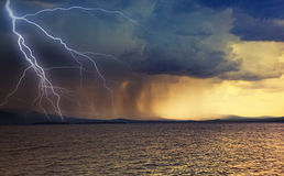 Thunderstorm. The beginning of the thunderstorm photo Royalty Free Stock Photos