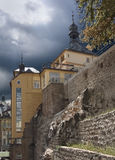 Urban view before thunderstorm, Karlovy Vary - Czech Republic Royalty Free Stock Images