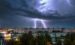 thunderstorm Fotos de Stock Royalty Free
