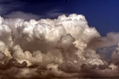 Thunderstorm. Thunderstorm in a dramatic summer sky Royalty Free Stock Images