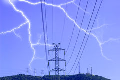Thunderstorm. Electric towe rat the thunderstorm Stock Photos
