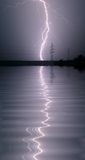 Thunderstorm. Heavy thunderstorm at the lake royalty free stock photography