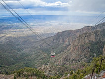 Thunderstorm, Albuquerque, New Mexico. Albuquerque and the Sandia Peak Tramway car royalty free stock photography
