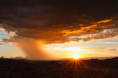 Thunderstorm approaching in the desert Stock Image
