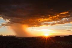 Thunderstorm approaching in the desert Stock Image