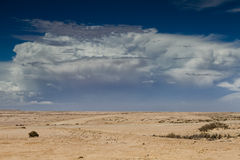 Thunderstorm approaching over the desert Stock Image