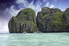 Thunderstorm approaching Thai Island Stock Photo