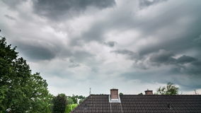 Thunderstorm is approaching stock footage