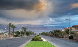 Thunderstorm is approaching to the Red Sea Royalty Free Stock Image