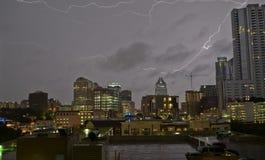 Thunderstorm in Austin Texas stock photo